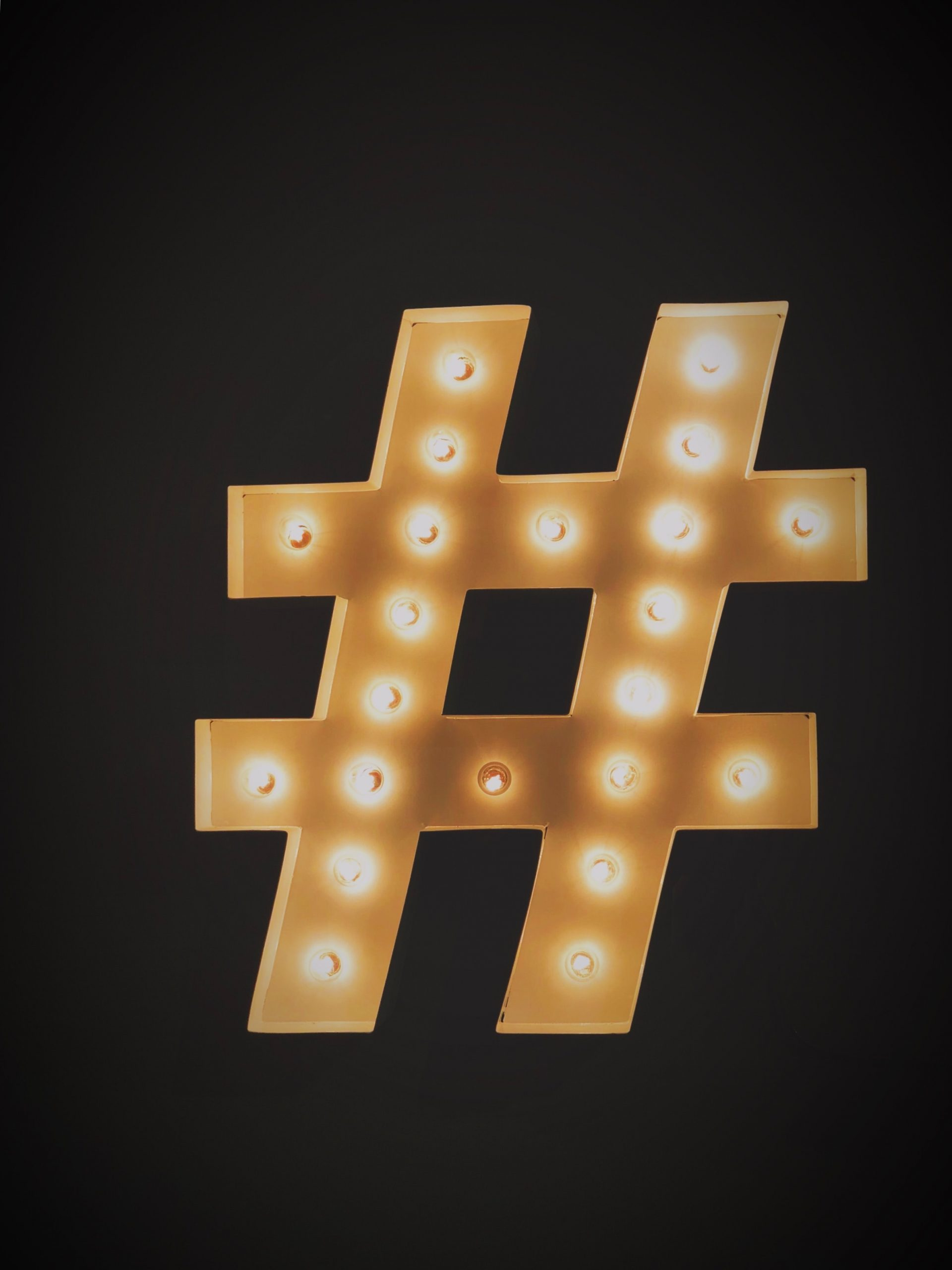 social media hash tag