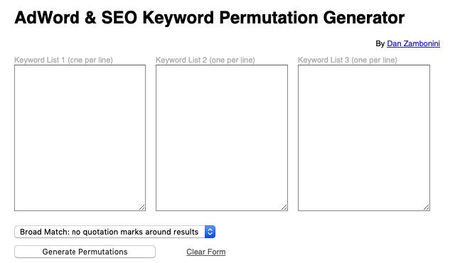 keywords planner