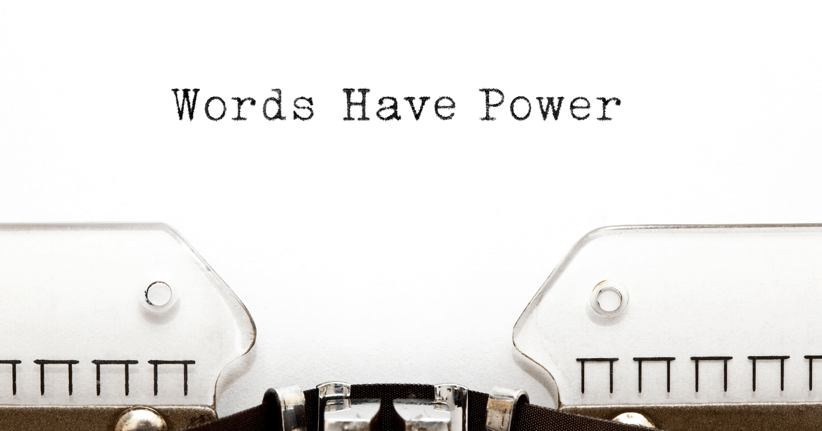 a note that words have power for content optimization
